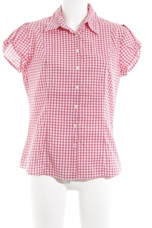 Tommy Hilfiger Shirt met korte mouwen rood-wit tafelkleed patroon