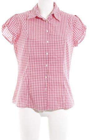Tommy Hilfiger Kurzarmhemd rot-weiß Vichykaromuster klassischer Stil