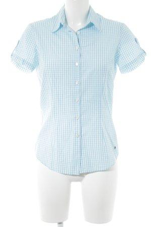 Tommy Hilfiger Shirt met korte mouwen wit-lichtblauw tafelkleed patroon