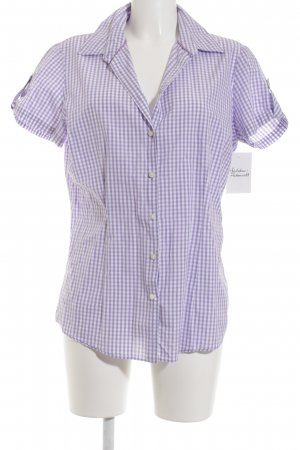 Tommy Hilfiger Short Sleeve Shirt white-purple check pattern casual look