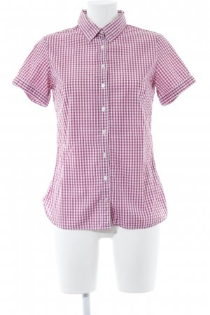 Tommy Hilfiger Short Sleeve Shirt white-magenta check pattern casual look