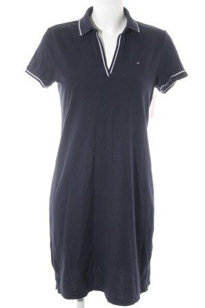 Tommy Hilfiger Kurzarmkleid dunkelblau-weiß Casual-Look