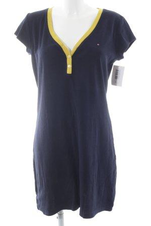 Tommy Hilfiger Robe à manches courtes jaune-bleu foncé style décontracté