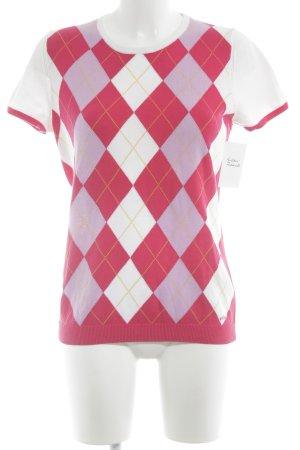Tommy Hilfiger Sweater met korte mouwen geruite print boyfriend stijl