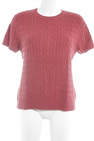 Tommy Hilfiger Short Sleeve Sweater brick red classic style