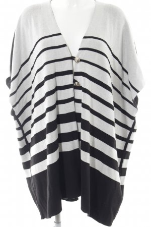 Tommy Hilfiger Short Sleeve Knitted Jacket black-white striped pattern