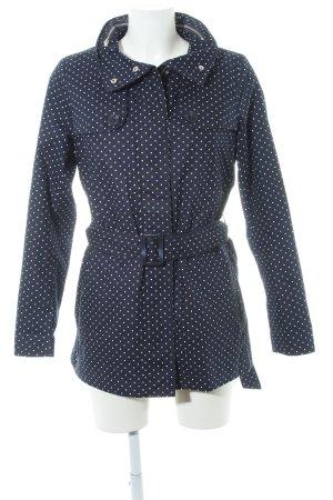 Tommy Hilfiger Korte Jas donkerblauw-wit gestippeld patroon simpele stijl