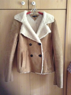 Tommy Hilfiger Fur Jacket lime yellow leather