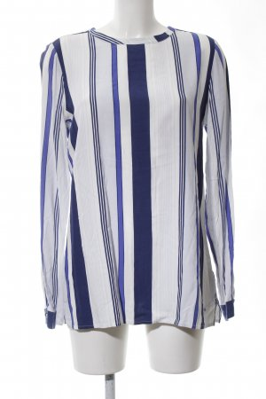 Tommy Hilfiger Langarm-Bluse blau-weiß Streifenmuster Casual-Look