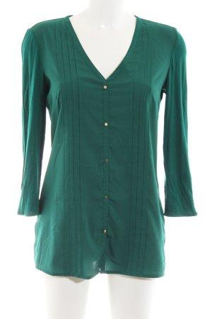 Tommy Hilfiger Langarm-Bluse grün Business-Look