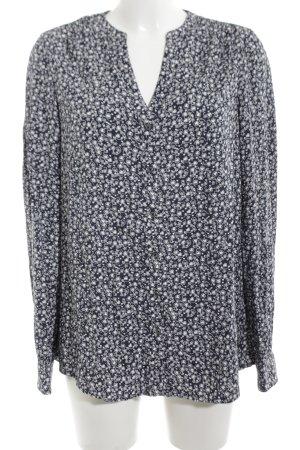 Tommy Hilfiger Langarm-Bluse schwarz-weiß grafisches Muster Elegant