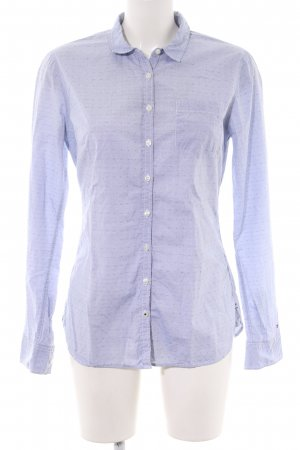 Tommy Hilfiger Langarm-Bluse blau Allover-Druck Business-Look