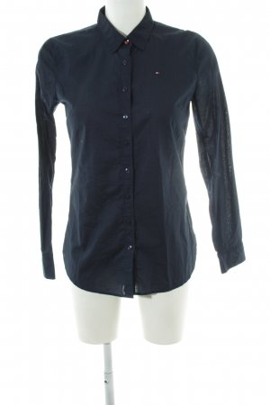 Tommy Hilfiger Langarm-Bluse schwarz Business-Look