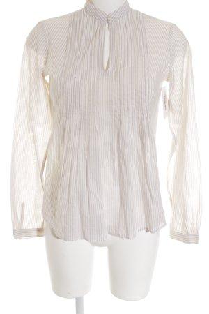 Tommy Hilfiger Langarm-Bluse beige-creme Streifenmuster Brit-Look