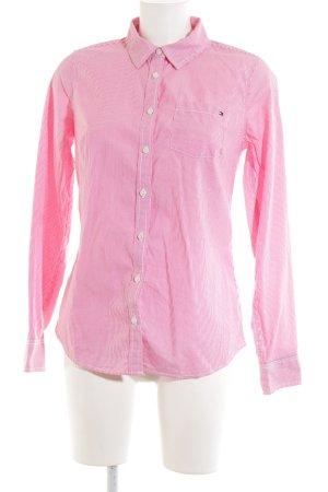 Tommy Hilfiger Langarm-Bluse pink-weiß Streifenmuster Casual-Look