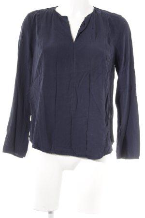 Tommy Hilfiger Langarm-Bluse dunkelblau Casual-Look