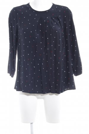 Tommy Hilfiger Langarm-Bluse dunkelblau Sternenmuster Casual-Look