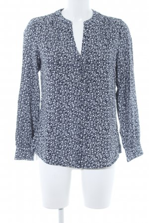 Tommy Hilfiger Langarm-Bluse dunkelblau-weiß Sternenmuster Casual-Look