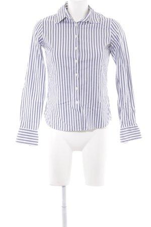 Tommy Hilfiger Langarm-Bluse dunkelblau-weiß Streifenmuster Casual-Look