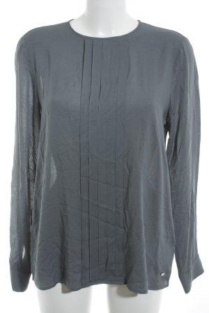 Tommy Hilfiger Langarm-Bluse graublau Pepitamuster Business-Look