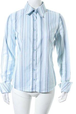 Tommy Hilfiger Langarm-Bluse hellblau-graublau Streifenmuster klassischer Stil