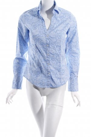 Tommy Hilfiger Langarm-Bluse hellblau-weiß Paisleymuster Elegant