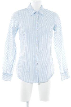 Tommy Hilfiger Langarm-Bluse hellblau-weiß Streifenmuster Business-Look