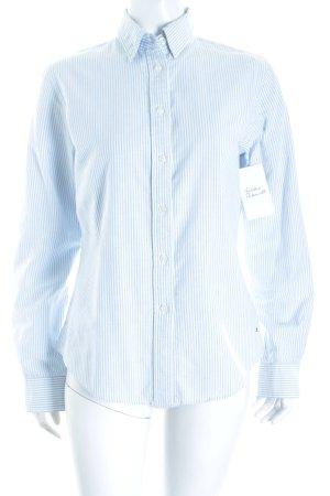 Tommy Hilfiger Langarm-Bluse hellblau-weiß Streifenmuster klassischer Stil