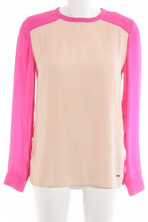 Tommy Hilfiger Langarm-Bluse magenta-nude Casual-Look