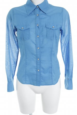 Tommy Hilfiger Langarm-Bluse neonblau Casual-Look