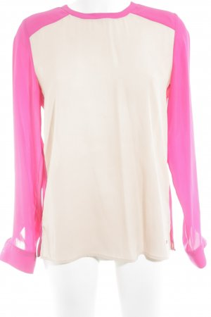 Tommy Hilfiger Langarm-Bluse pink-nude Colourblocking Business-Look
