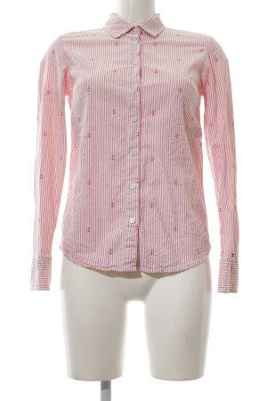 Tommy Hilfiger Langarm-Bluse pink-wollweiß Streifenmuster Casual-Look