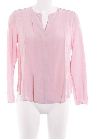 Tommy Hilfiger Langarm-Bluse rosa minimalistischer Stil