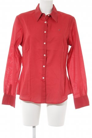 Tommy Hilfiger Langarm-Bluse rot klassischer Stil