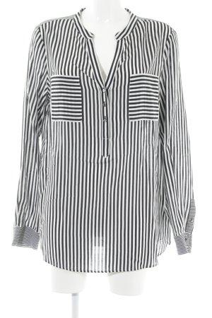 Tommy Hilfiger Langarm-Bluse schwarz-weiß Streifenmuster Casual-Look