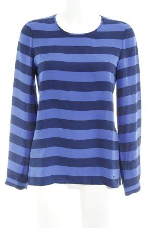 Tommy Hilfiger Langarm-Bluse stahlblau-dunkelblau Streifenmuster Casual-Look