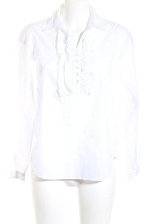 Tommy Hilfiger Blusa de manga larga blanco-beige estilo sencillo