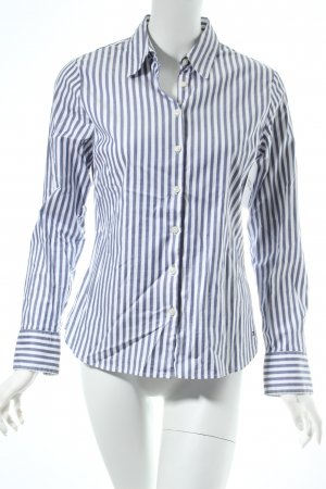 Tommy Hilfiger Langarm-Bluse weiß-blassblau Streifenmuster Business-Look