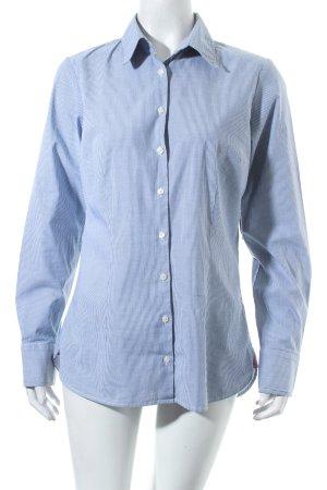 Tommy Hilfiger Langarm-Bluse weiß-blau Streifenmuster Business-Look