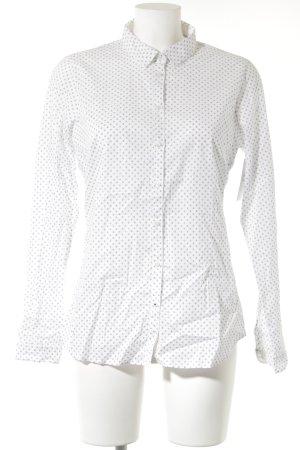 Tommy Hilfiger Langarm-Bluse weiß-dunkelblau schlichter Stil