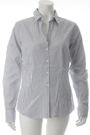 Tommy Hilfiger Langarm-Bluse weiß-dunkelblau Streifenmuster Business-Look