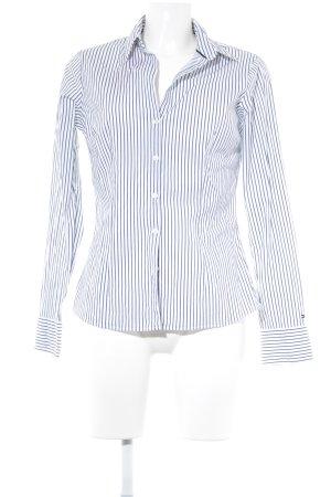 Tommy Hilfiger Langarm-Bluse weiß-dunkelblau Streifenmuster Elegant