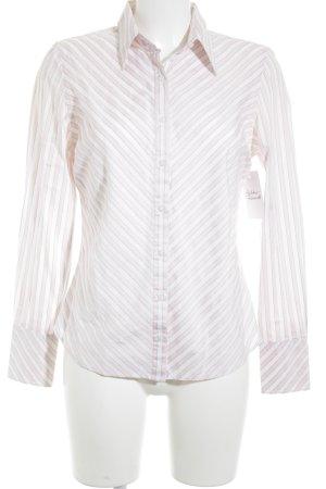 Tommy Hilfiger Langarm-Bluse weiß-hellrosa Streifenmuster Business-Look
