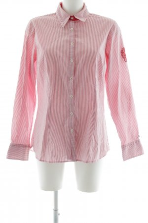 Tommy Hilfiger Langarm-Bluse weiß-hellrot florales Muster Business-Look