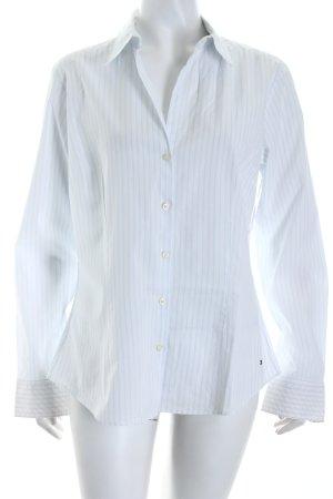 Tommy Hilfiger Langarm-Bluse weiß-himmelblau Streifenmuster Business-Look