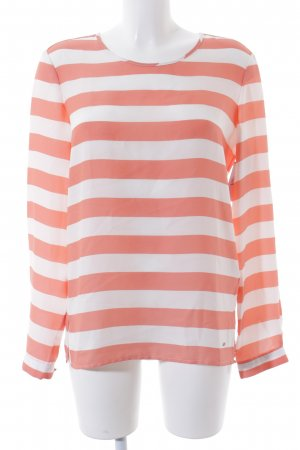 Tommy Hilfiger Langarm-Bluse weiß-lachs Streifenmuster Casual-Look