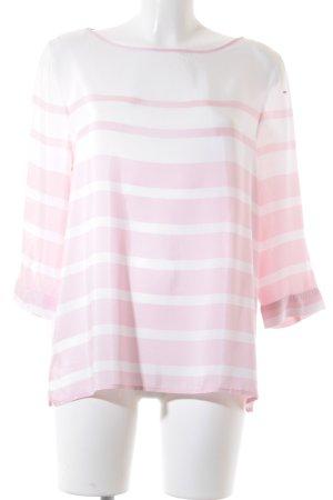 Tommy Hilfiger Langarm-Bluse weiß-rosa Streifenmuster Elegant