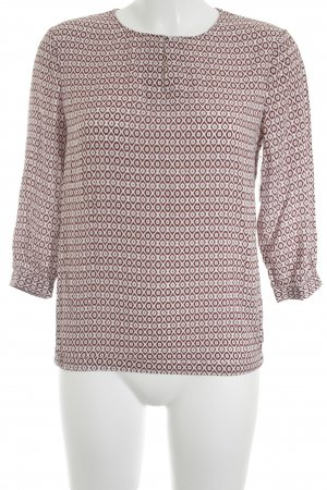 Tommy Hilfiger Langarm-Bluse weiß-rostrot abstraktes Muster Casual-Look