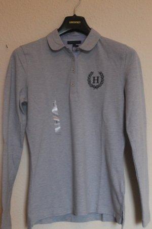 Tommy  Hilfiger langarm Pollo-Shirt grau-blau Gr.36