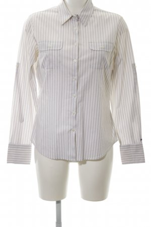 Tommy Hilfiger Camisa de manga larga blanco-gris claro estampado a rayas